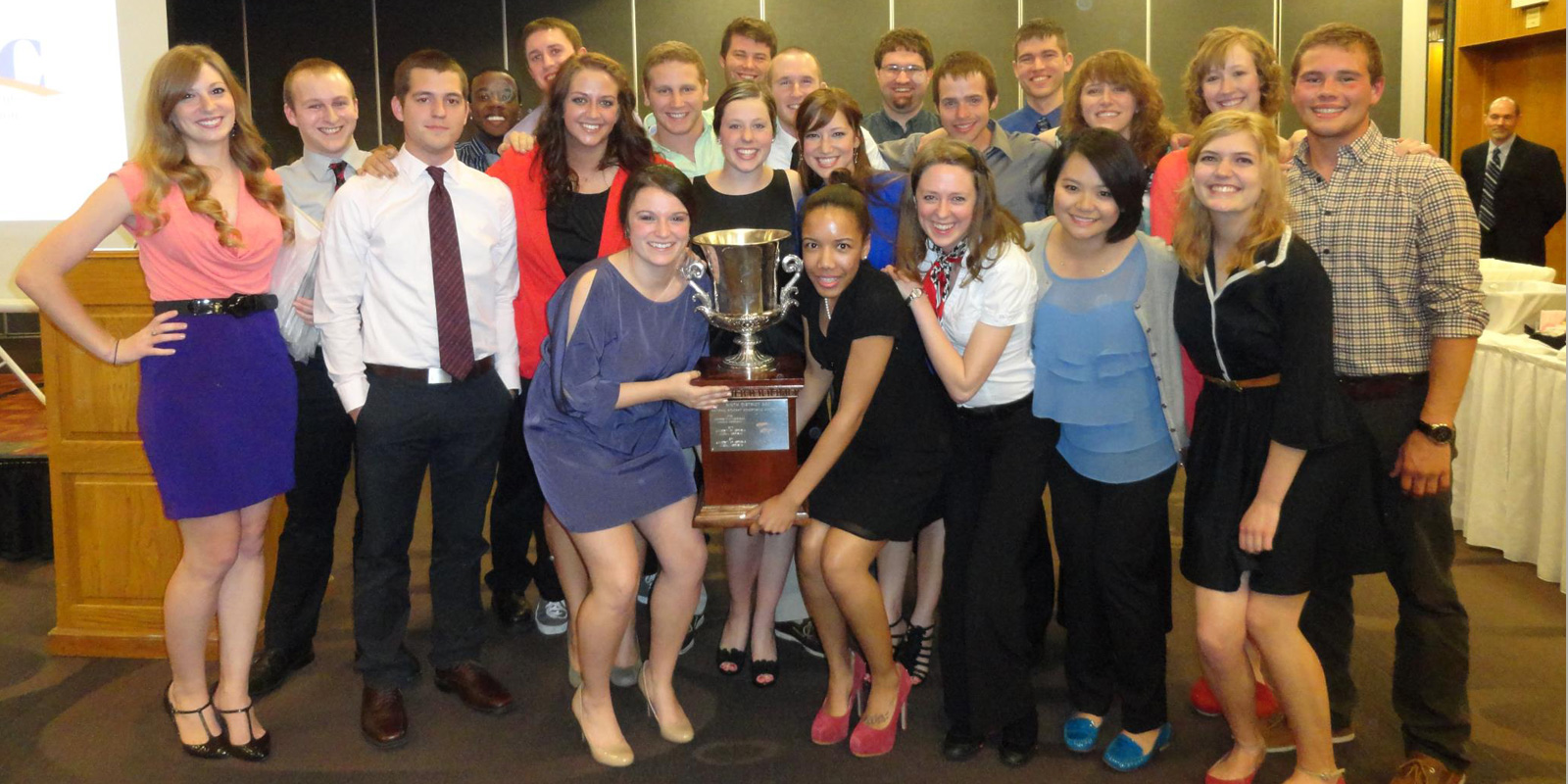 NSAC students with their trophy