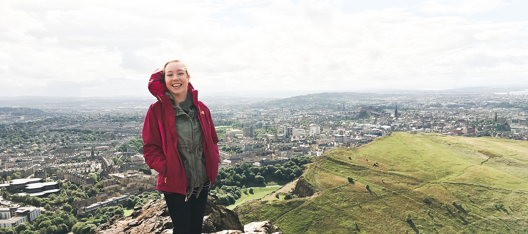 CoJMC student enjoys an elevated view of the Irish countryside