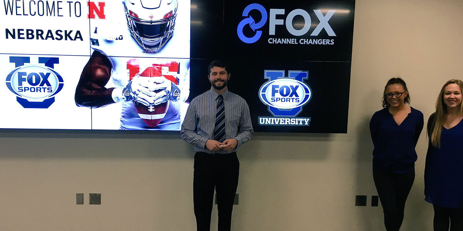 Fox Sports U students present their project