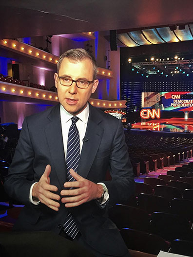 Jeff Zeleny covering the Democratic Presidential Debate