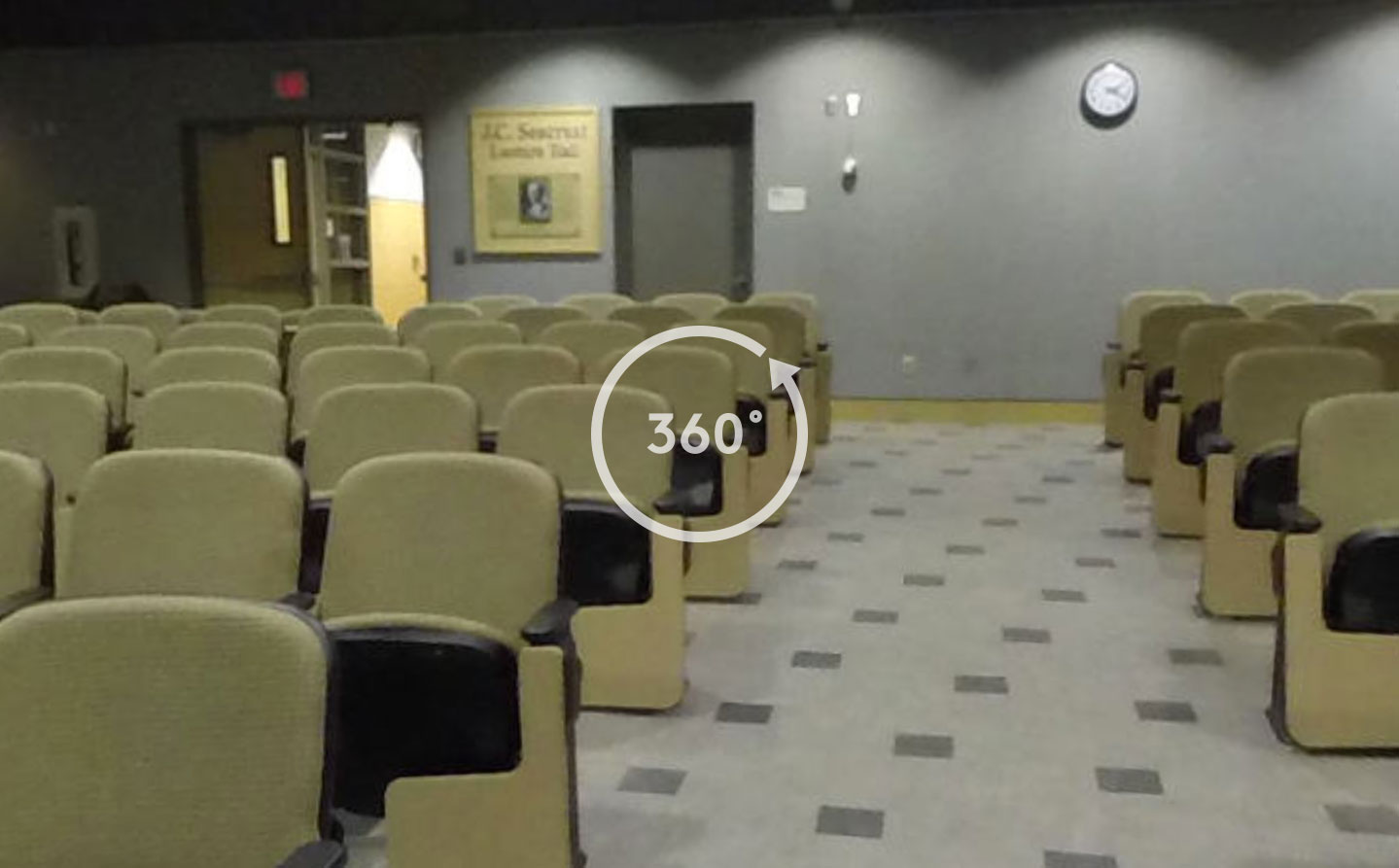 The CoJMC lecture hall: links to 360 degree tour of lecture hall