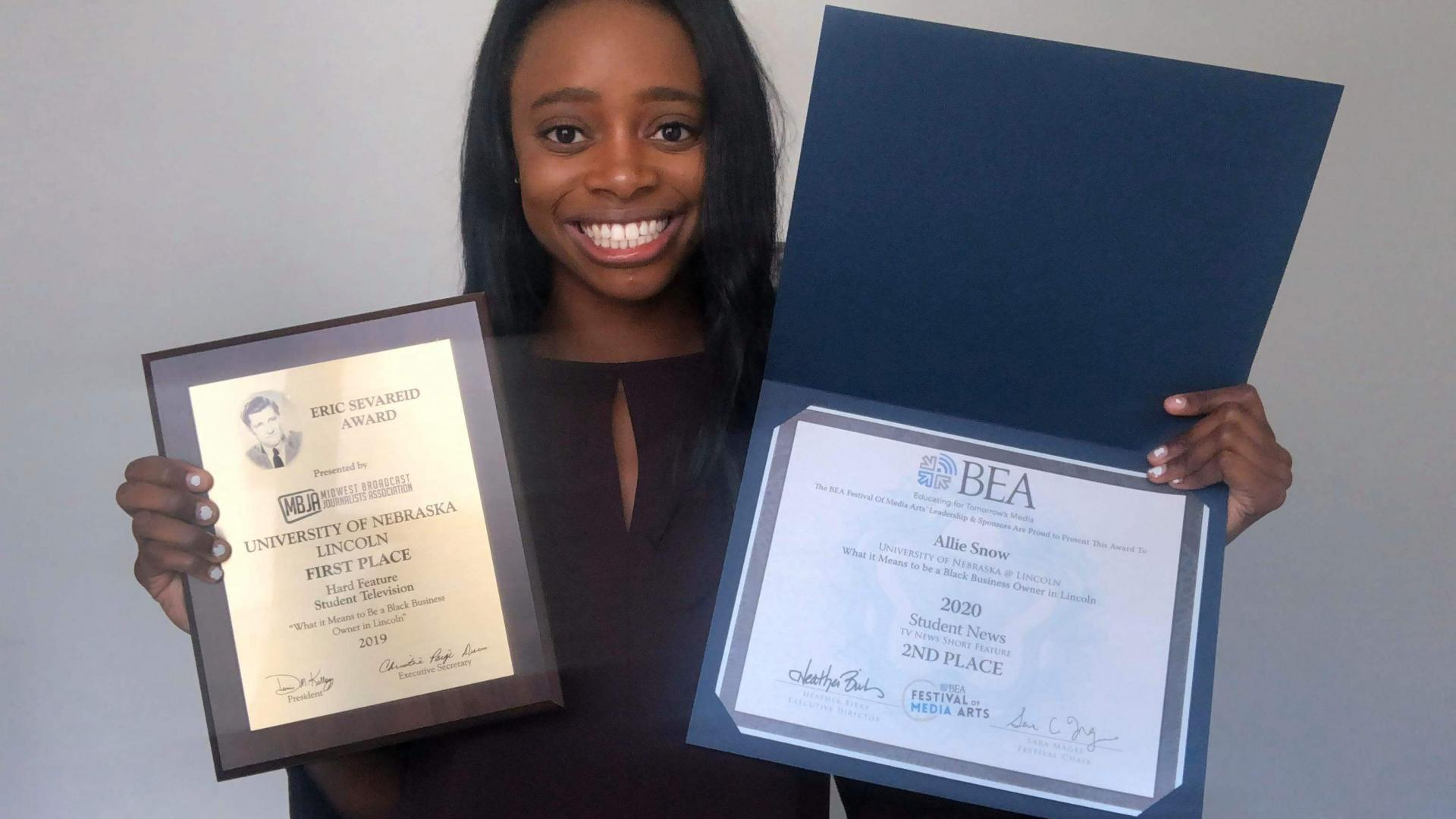 Competition winner in broadcasting major