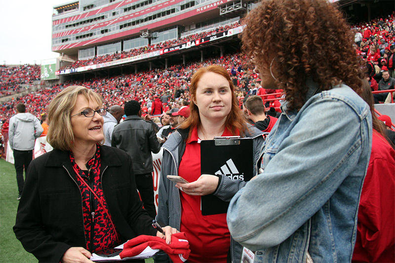 CoJMC student does interview at Spring Game