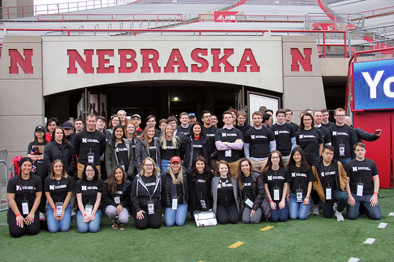 CoJMC students participate in the University of Nebraska–Lincoln Spring Game