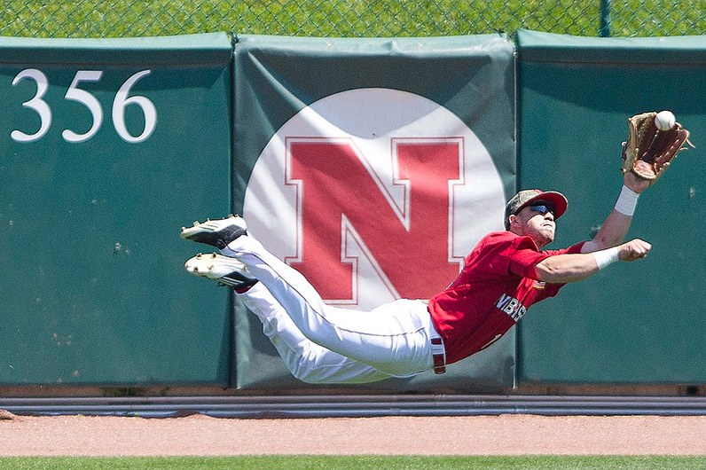 Anna Reed's Photo of a Nebraska baseball player diving for a ball