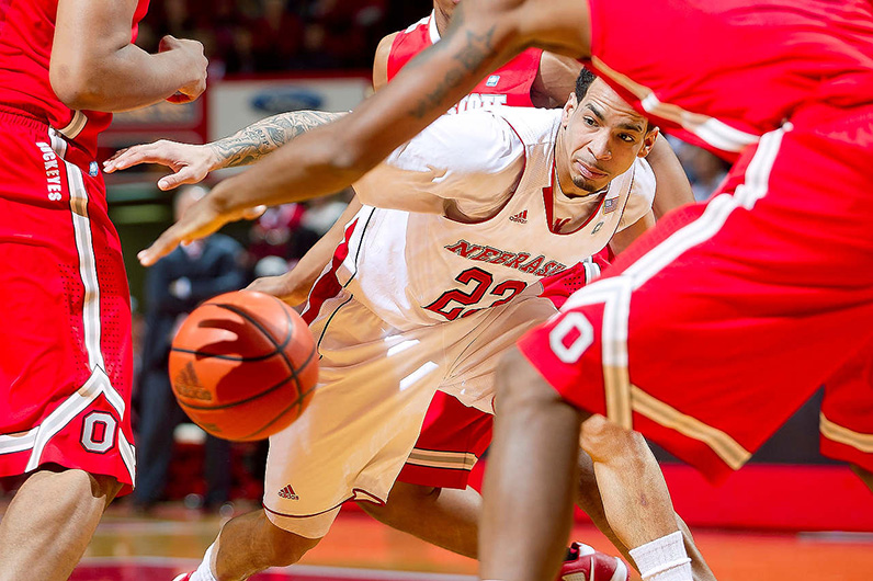 Anna Reed's Photo of a Nebraska Men's Basketball player during a game