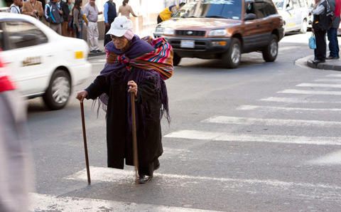 Woman in the streets of Bolivia