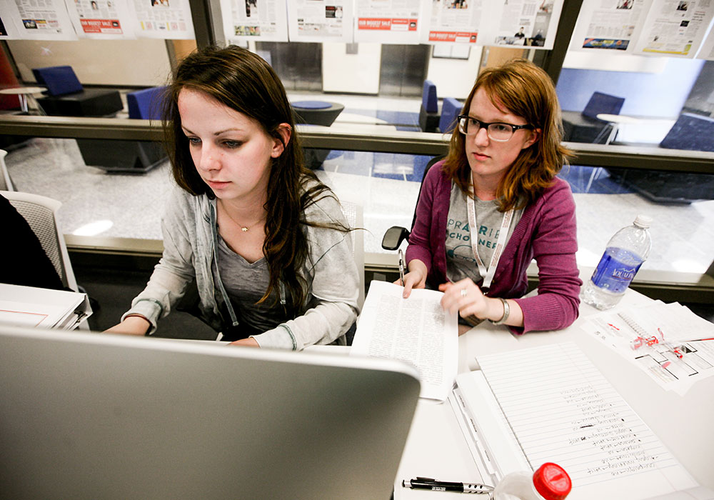 DJNF students during the Dow Jones News Fund Center for Editing Excellence at the University of Texas