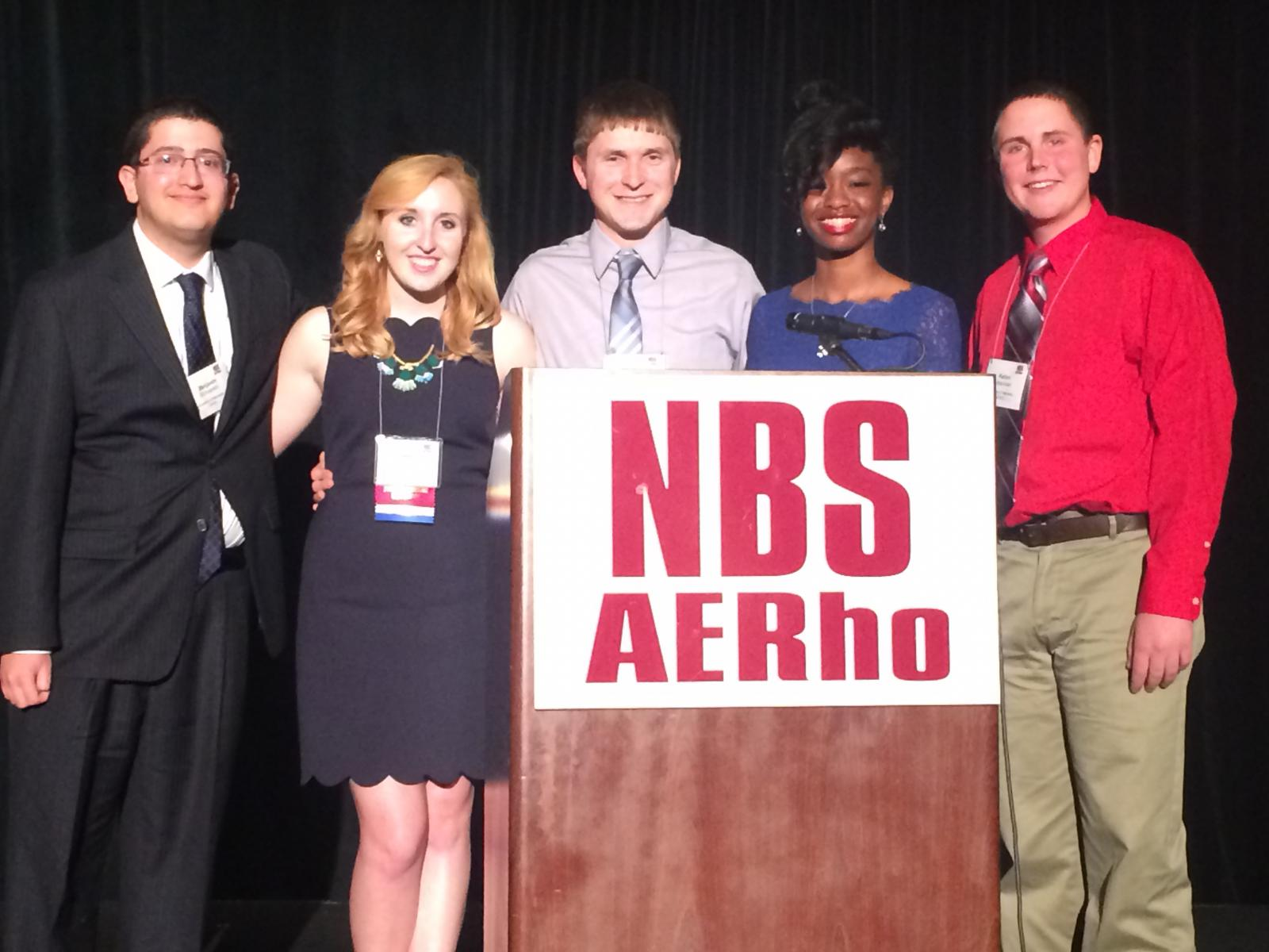 Members of NBS AERho at the 2015 convention in Burbank