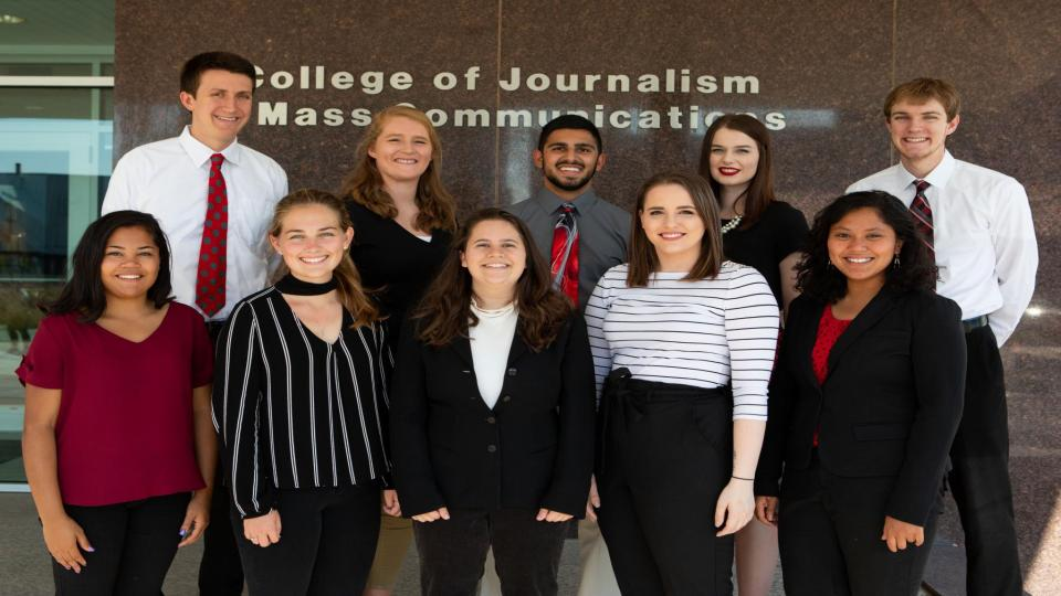 Student Advisory Board members of Broadcasting