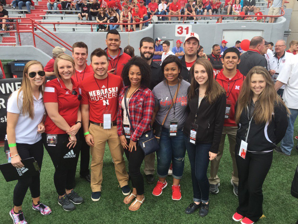 CoJMC students shadow professionals at Husker Spring Game: links to news story