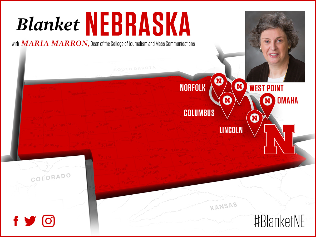 The Dean and Associate Deans will visit 5 Nebraska cities this month as part of the Blanket Nebraska campaign.