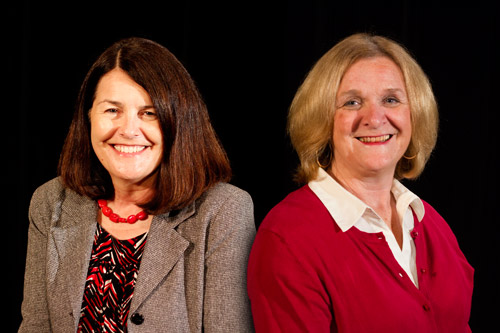 CoJMC Assistant Professor Michelle Hassler and Associate Professor Sue Bullard