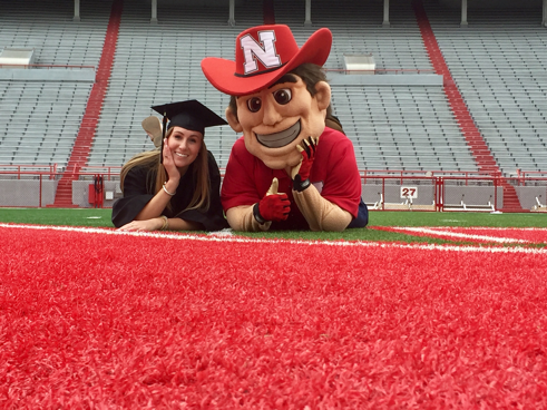 Abby Akin and Herbie Husker