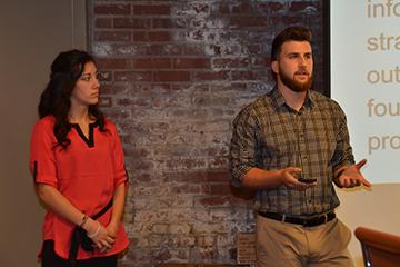 Jacht Ad Lab staff giving a presentation