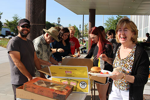 CoJMC faculty and staff enjoy BBQ