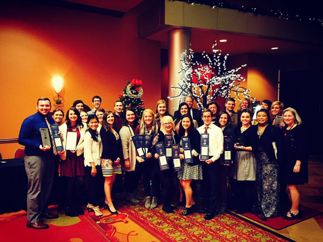 CoJMC students received 16 awards at the Nebraska Public Relations Society of America (PRSA) Paper Anvil Awards Gala