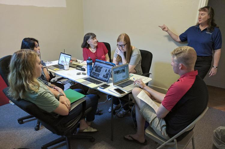 Professor Mary Kay Quinlan's advanced reporting class spent two weeks reporting in Seward County last summer. (Photo courtesy of Seward County Independent)
