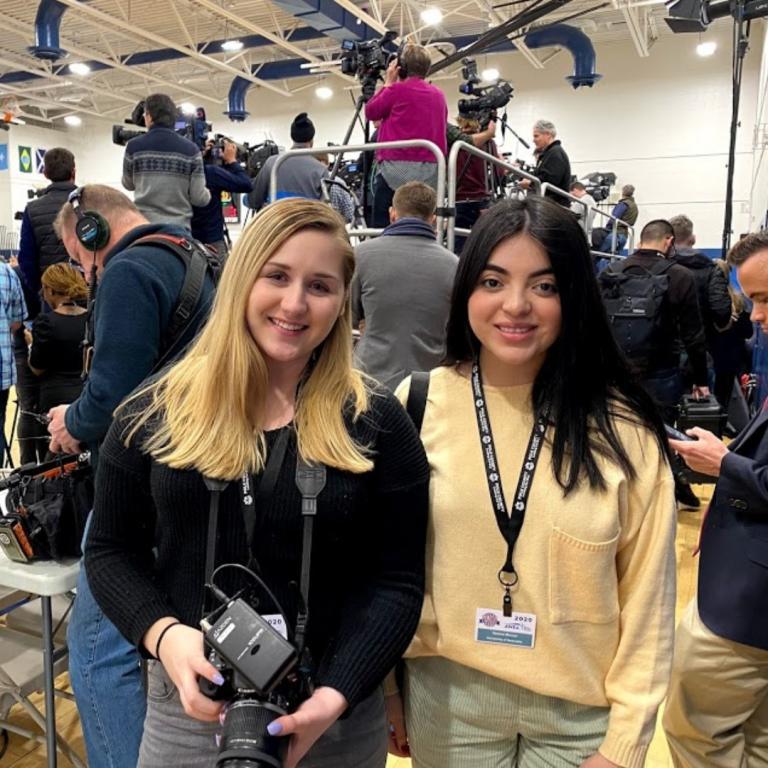 Students Lauren Nunez and Denise Munoz